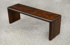 Don Shoemaker Don Shoemaker Solid Brazilian Rosewood Table Bench 1970s Studio Craft Mexico - 1983069