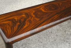 Don Shoemaker Don Shoemaker Solid Brazilian Rosewood Table Bench 1970s Studio Craft Mexico - 1983076