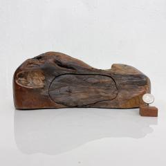 Don Shoemaker JEWELRY Secret Box in Free Form Natural Organic Raw Edge Wood 1970s - 2091217