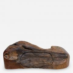 Don Shoemaker JEWELRY Secret Box in Free Form Natural Organic Raw Edge Wood 1970s - 2093722