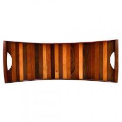 Don Shoemaker Laminated Rosewood Serving Tray by Don Shoemaker - 185043