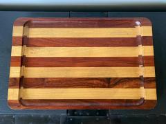 Don Shoemaker Large Exotic Mixed Wood Tray by Don Shoemaker - 2108274
