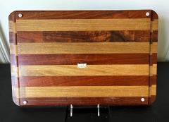 Don Shoemaker Large Exotic Mixed Wood Tray by Don Shoemaker - 2108276