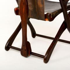 Don Shoemaker Mexican Modernist Don Shoemaker Famed Scissor Sling Folding Armchair w Ottoman - 1358767