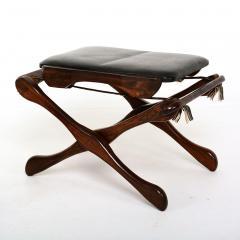 Don Shoemaker Mexican Modernist Don Shoemaker Famed Scissor Sling Folding Armchair w Ottoman - 1358768
