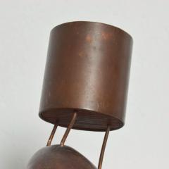 Don Shoemaker Rare Cocobolo Bronze Candle Holder by Don S Shoemaker Mexican Modernist - 1434292
