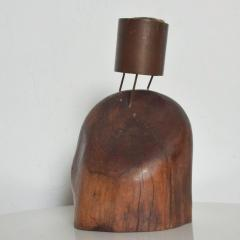 Don Shoemaker Rare Cocobolo Bronze Candle Holder by Don S Shoemaker Mexican Modernist - 1434294