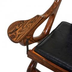 Don Shoemaker Rosewood and Leather Lounge Chair and Ottoman Don Shoemaker - 110241