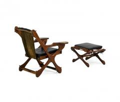 Don Shoemaker Rosewood and Leather Lounge Chair and Ottoman Don Shoemaker - 110516