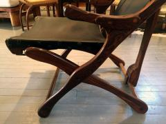 Don Shoemaker Rosewood and Leather Lounge Chair with Ottoman - 110831