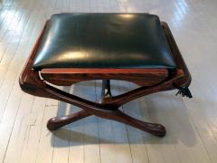 Don Shoemaker Rosewood and Leather Lounge Chair with Ottoman - 110835