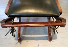 Don Shoemaker Rosewood and Leather Lounge Chair with Ottoman - 110836