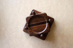 Don Shoemaker Tropical Wood Set of 6 Coasters - 1355095