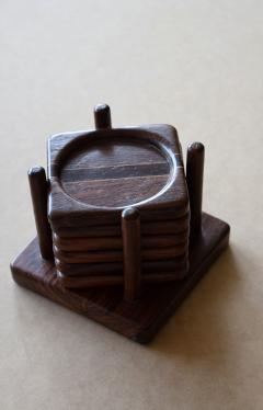 Don Shoemaker Tropical Wood Set of 6 Coasters - 1355099