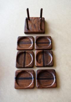 Don Shoemaker Tropical Wood Set of 6 Coasters - 1355102