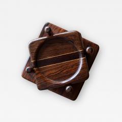 Don Shoemaker Tropical Wood Set of 6 Coasters - 1355880