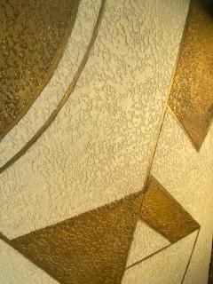 Donald Deskey ART DECO GEOMETRIC DESIGN THREE PANEL ROOM SCREEN IN THE MANNER OF DONALD DESKEY - 1793991