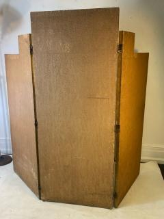 Donald Deskey ART DECO GEOMETRIC DESIGN THREE PANEL ROOM SCREEN IN THE MANNER OF DONALD DESKEY - 1793992