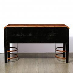 Donald Deskey Donald Deskey Art Deco Black Lacquer Burled Carpathian Elm Walnut Sideboard - 2050226