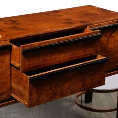 Donald Deskey Donald Deskey Art Deco Black Lacquer Burled Carpathian Elm Walnut Sideboard - 2050255