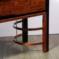 Donald Deskey Donald Deskey Art Deco Black Lacquer Burled Carpathian Elm Walnut Sideboard - 2050271