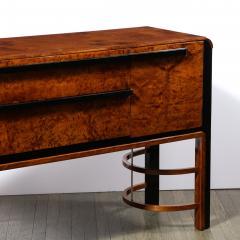 Donald Deskey Donald Deskey Art Deco Black Lacquer Burled Carpathian Elm Walnut Sideboard - 2050278