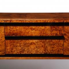 Donald Deskey Donald Deskey Art Deco Black Lacquer Burled Carpathian Elm Walnut Sideboard - 2050352
