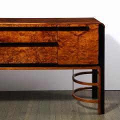 Donald Deskey Donald Deskey Art Deco Black Lacquer Burled Carpathian Elm Walnut Sideboard - 2050354