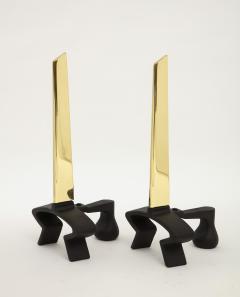 Donald Deskey Donald Deskey Brass Blade Andirons - 1860121