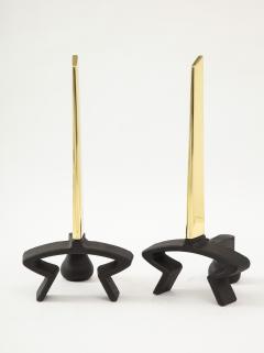 Donald Deskey Donald Deskey Brass Blade Andirons - 1860122