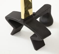 Donald Deskey Donald Deskey Brass Blade Andirons - 1860126