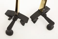 Donald Deskey Donald Deskey Brass Blade Andirons - 1860127
