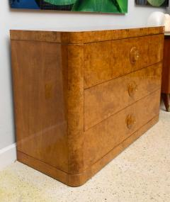 Donald Deskey Late Art Deco Burl Birch Three Drawer Commode Attributed to Donald Deskey - 348790