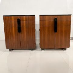 Donald Deskey New Yorker Donald Deskey Industrial Art Deco Satinwood Gloss Cabinets 1930s USA - 1985264