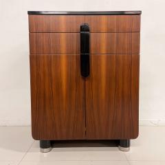 Donald Deskey New Yorker Donald Deskey Industrial Art Deco Satinwood Gloss Cabinets 1930s USA - 1985272