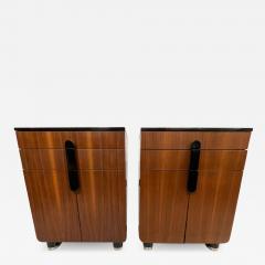Donald Deskey New Yorker Donald Deskey Industrial Art Deco Satinwood Gloss Cabinets 1930s USA - 1987443