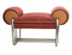 Donald Deskey Pair of Art Deco Machine Age Tubular Chrome Bench Benches by Donald Deskey - 1956530
