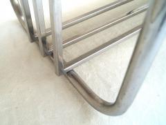 Donald Deskey Pair of Art Deco Machine Age Tubular Chrome Bench Benches by Donald Deskey - 1956536