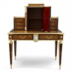 Donald Ross Antique Neoclassical Style Writing Desk with Porcelain Mounts by Donald Ross - 1979323