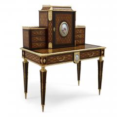 Donald Ross Antique Neoclassical Style Writing Desk with Porcelain Mounts by Donald Ross - 1979324