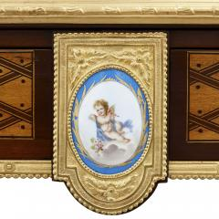 Donald Ross Antique Neoclassical Style Writing Desk with Porcelain Mounts by Donald Ross - 1979325