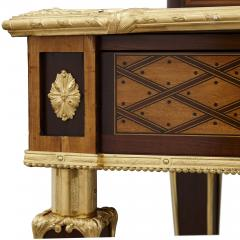 Donald Ross Antique Neoclassical Style Writing Desk with Porcelain Mounts by Donald Ross - 1979327