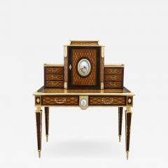 Donald Ross Antique Neoclassical Style Writing Desk with Porcelain Mounts by Donald Ross - 1982301