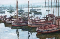 Donald Teague Fishing Boats in Monterey Harbor - 2119572