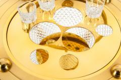 Dore Bronze Cut Crystal Globe Shape Liquor Cave Tantalus - 1170963