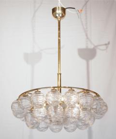 Doria Leuchten Brass Doria Chandlier with Organic Glass Orbs - 1826722