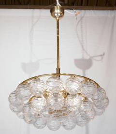 Doria Leuchten Brass Doria Chandlier with Organic Glass Orbs - 1826723