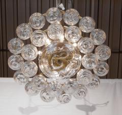 Doria Leuchten Brass Doria Chandlier with Organic Glass Orbs - 1826725