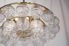 Doria Leuchten Brass Doria Chandlier with Organic Glass Orbs - 1826726