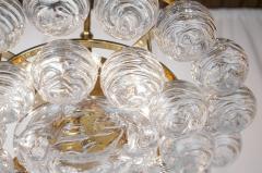 Doria Leuchten Brass Doria Chandlier with Organic Glass Orbs - 1826727